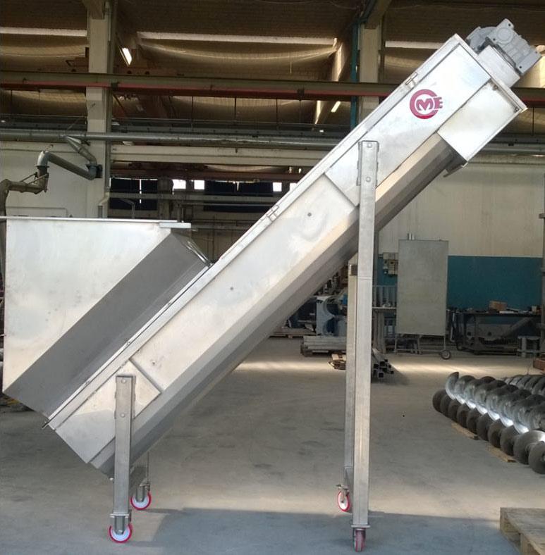 ELEVATORE A COCLEA in acciaio inox AISI 304